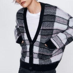 Limited Edition Plad soft Zara Mohair Cardigan